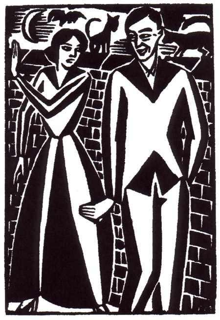 Cover: Frans Masereel, Untitled woodcut,